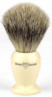 EJ med ivory best lg Edwin Jagger Best Badger Shaving Brush