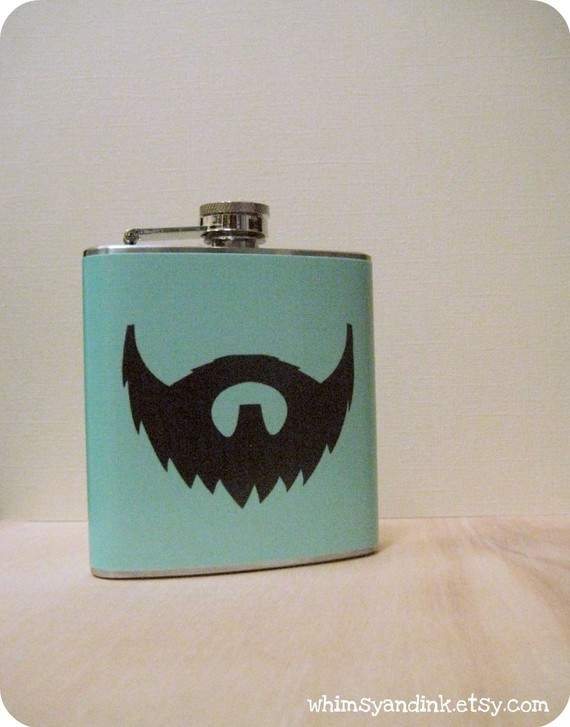 6 oz Stainless Steel Flask Beard Love Beard Love 6 oz Stainless Steel Flask
