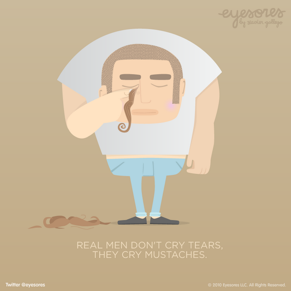 Real Men Cry Mustaches Real Men Cry Mustaches Graphic
