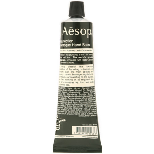 Aesop finercut Aesop Resurrection Aromatique Hand Balm