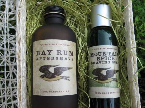 Bay Rum Shaving Set Flying Bird Botanicals Bay Rum Shaving Set