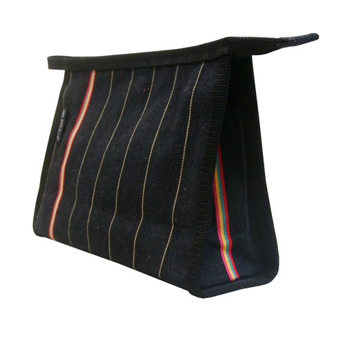 ZPGK18 ZPM Black Pinstripe Traditional Medium Washbag