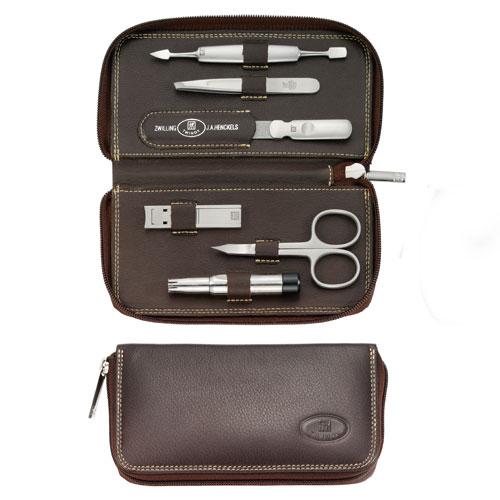 ZWAC8 Zwilling Twinox Emblem Brown 6 piece Manicure Kit