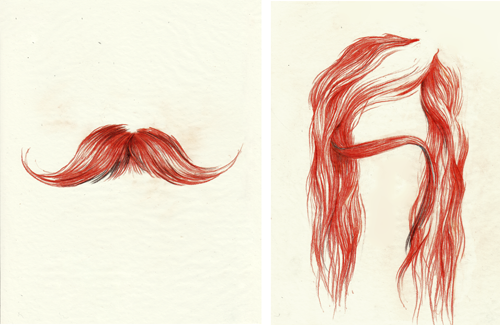 moustache and lady moustache Mr. & Mrs. Moustache