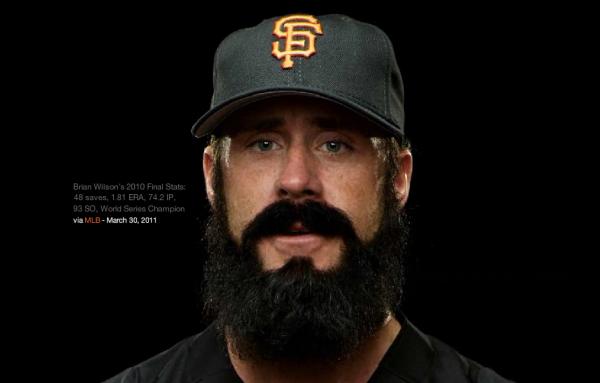 Brian Wilsons Beard Interactively Explore MLB Pitcher Brian Wilsons Beard!