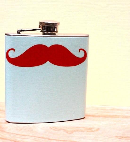 Mustache Flask 01 The Sir Campbellshire Mustache Flask