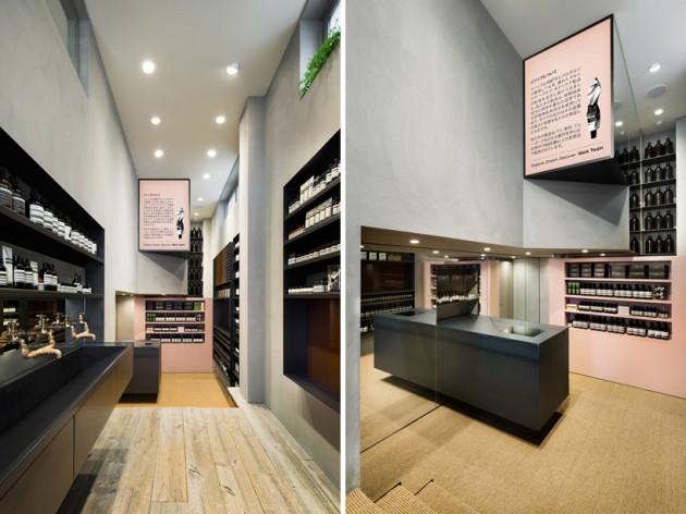 aesop shibuya 06 630x472 Aesop Shibuya Store Designed by Torafu Architects