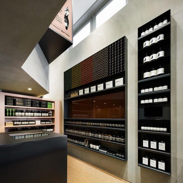 aesop shibuya 07 630x630 Aesop Shibuya Store Designed by Torafu Architects