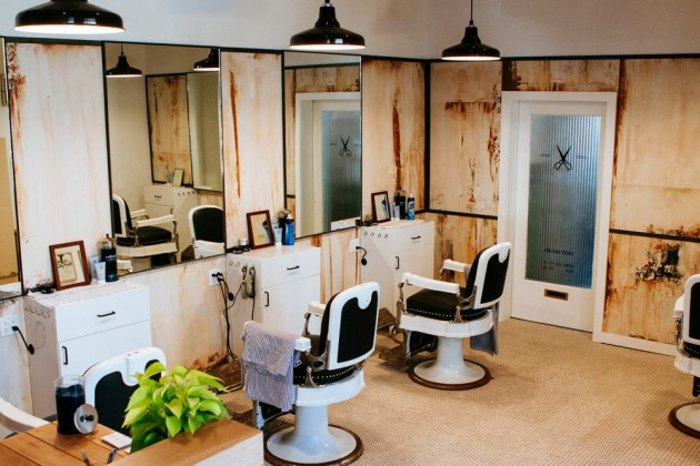 Blind Barber Williamsburg 02 630x420 A Look at Blind Barbers New NYC Shop & Bar