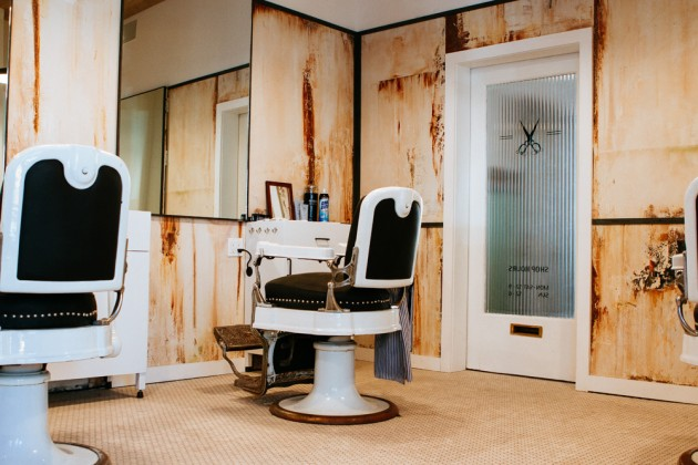 Blind Barber Williamsburg 04 630x420 A Look at Blind Barbers New NYC Shop & Bar
